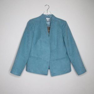 Chico's Faux Vegan Suede Robin Egg Blue Jacket NWT